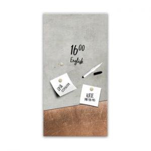 Tabla magnetica Styler Grey Copper, 30 x 60 cm
