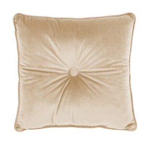 Perna Tiseco Home Studio Velvet Button, 45 x 45 cm, bej deschis