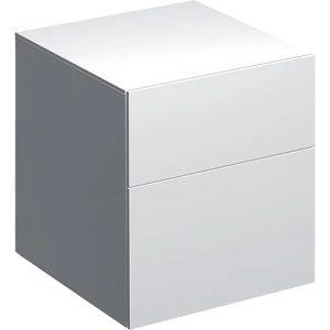 Dulap baie suspendat alb Geberit Xeno 2 sertare 45 cm
