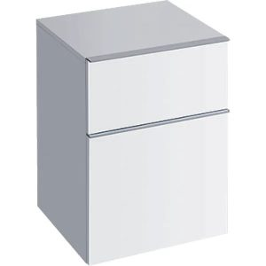 Dulap baie suspendat alb lucios Geberit Icon 2 sertare 45 cm