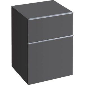 Dulap baie suspendat negru Geberit Icon 2 sertare 45 cm