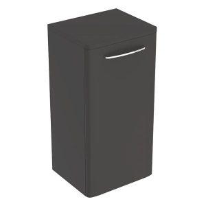 Dulap baie suspendat negru Geberit Selnova Square 1 usa 33 cm