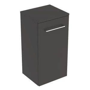 Dulap baie suspendat pentru lavoar Geberit Selnova Square negru 1 usa 33 cm