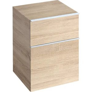 Dulap baie suspendat stejar natural Geberit Icon 2 sertare 45 cm