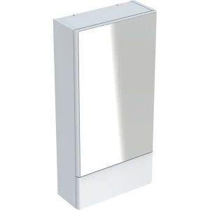 Dulap cu oglinda suspendat Geberit Selnova Square alb 1 usa simpla 1 usa rabatabila 42 cm