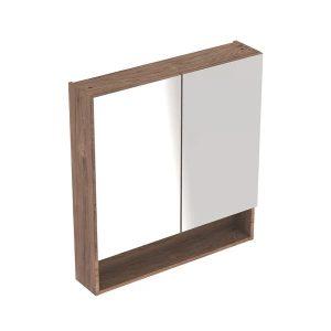Dulap cu oglinda suspendat Geberit Selnova Square nuc 2 usi 79 cm