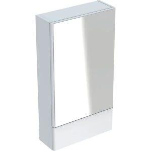 Dulap cu oglinda suspendat Geberit Selnova Square alb 1 usa simpla 1 usa rabatabila 47 cm