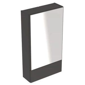 Dulap cu oglinda suspendat Geberit Selnova Square negru 1 usa simpla 1 usa rabatabila 47cm