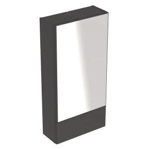Dulap cu oglinda suspendat Geberit Selnova Square negru 1 usa simpla 1 usa rabatabila 42 cm