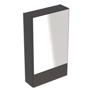 Dulap cu oglinda suspendat Geberit Selnova Square negru 1 usa simpla 1 usa rabatabila 50 cm