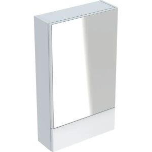 Dulap cu oglinda suspendat Geberit Selnova Square alb 1 usa simpla 1 usa rabatabila 50 cm