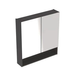 Dulap cu oglinda suspendat Geberit Selnova Square negru 2 usi 59 cm