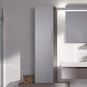Dulap baie suspendat bej Geberit Icon 1 usa si 1 oglinda 36 cm