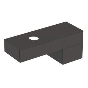 Dulap baza pentru lavoar pe blat Geberit Variform negru 3 sertare 135 cm