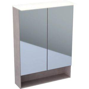 Dulap cu oglinda suspendat cu iluminare LED Geberit Acanto 2 usi 60 cm