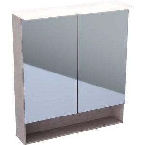 Dulap cu oglinda suspendat cu iluminare LED Geberit Acanto 2 usi 75 cm