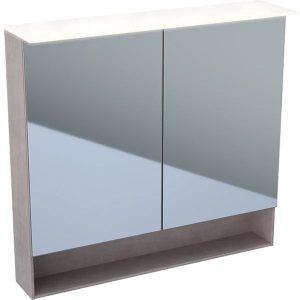 Dulap cu oglinda suspendat cu iluminare LED Geberit Acanto 2 usi 90 cm