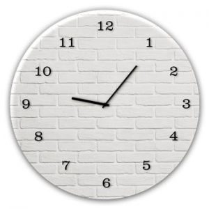 Ceas de perete Styler Glassclock White Brick, ⌀ 30 cm