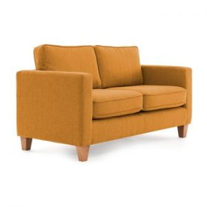 Canapea cu 2 locuri Vivonia Sorio, mustar