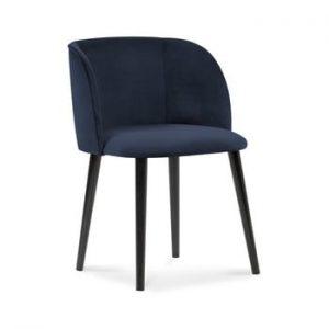 Scaun cu invelis de catifea Windsor & Co Sofas Aurora, albastru inchis