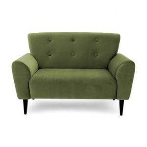 Canapea cu 2 locuri Vivonita Kiara, verde masliniu