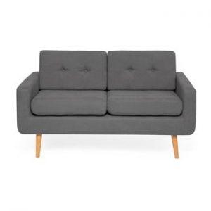 Canapea cu 2 locuri Vivonita Ina, gri inchis