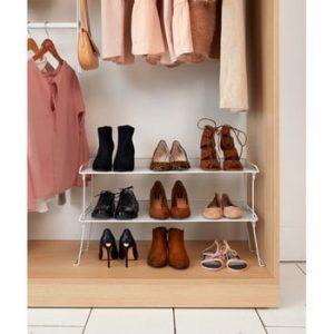 Raft pentru pantofi Compactor, alb