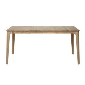 Masa extensibila din lemn de stejar alb Unique Furniture Amalfi, 90 x 160/210 cm