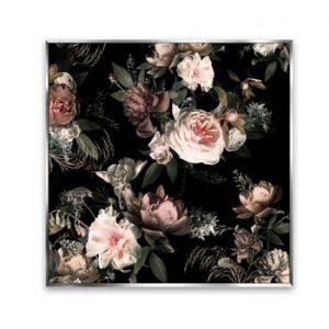 Tablou imprimat pe panza Styler Copper Flowers, 67 x 67 cm