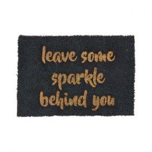 Covoras intrare din fibre de cocos Artsy Doormats Leave Some Sparkle, 40 x 60 cm
