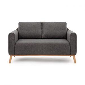 Canapea pentru 2 persoane Vivonita Milton, gri antracit