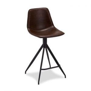 Set 2 scaune de bar Furnhouse Isabel, maro inchis