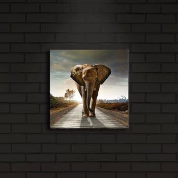 Tablou cu LED-uri Elephant, 28 x 28 cm