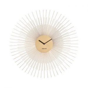 Ceas de perete Karlsson Peony Large, auriu, ø 60 cm