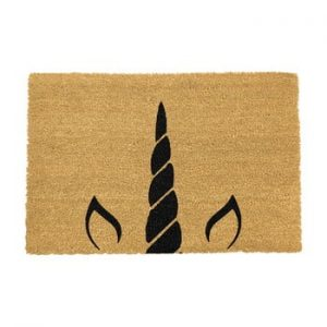 Covoras intrare din fibre de cocos Artsy Doormats Unicorn Horn, 40 x 60 cm