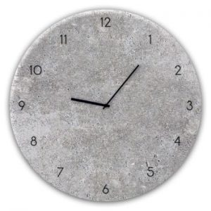 Ceas de perete Styler Glassclock Concrete II, ⌀ 30 cm