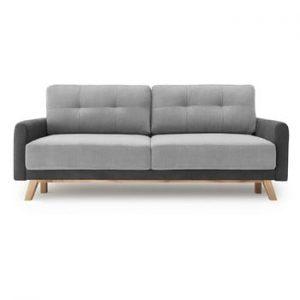 Canapea extensibila cu 3 locuri Bobochic Paris Balio, gri deschis