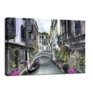 Tablou Styler Canvas Watercolor Venice, 75 x 100 cm