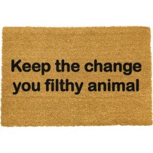 Covoras intrare din fibre de cocos Artsy Doormats Keep The Change, 40 x 60 cm