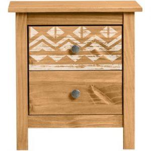 Noptiera din lemn de pin Marckreric Apache
