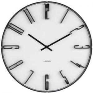 Ceas de perete Karlsson Sentient, ⌀ 40 cm, alb