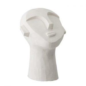 Decoratiune Bloomingville Head, alb