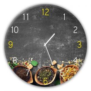Ceas de perete Styler Glassclock Tea, ⌀ 30 cm