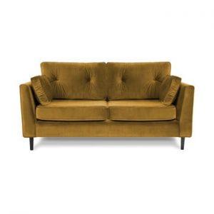 Canapea cu trei locuri VIVONITA Portobello, galben