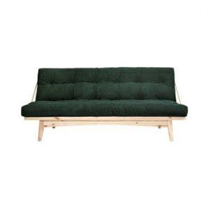 Canapea extensibila Karup Design Folk Raw/Dark Green