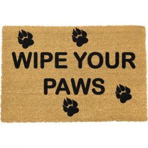 Covoras intrare din fibre de cocos Artsy Doormats Wipe Your Paws, 40 x 60 cm