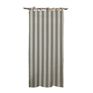 Draperie Linen Cuture Cortina Hogar Grey Stripes, gri