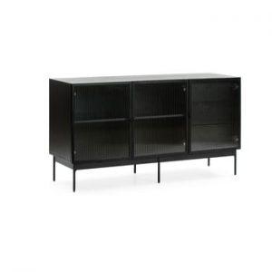 Comoda Teulat Blur, latime 140 cm, negru