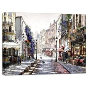 Tablou Styler Canvas Watercolor Paris Mood, 85 x 113 cm