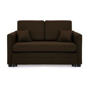Canapea extensibila, 2 locuri, Vivonita Brent, maro inchis